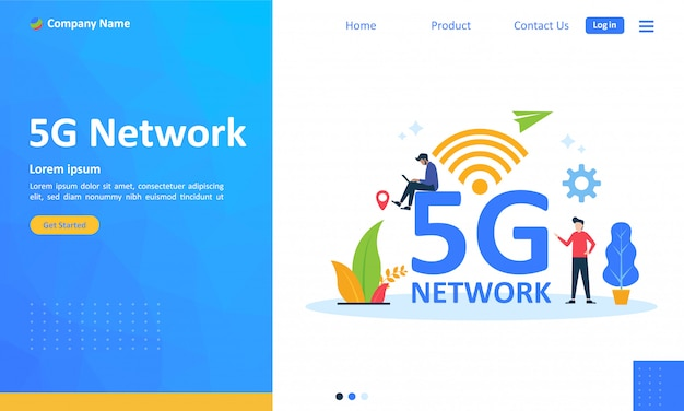 5g network internet mobile wireless for web landing page