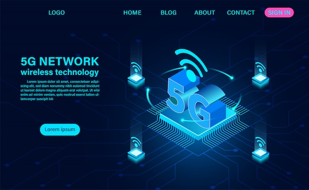 5g network landing page