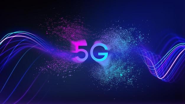 5g 네트워크 기술 배경입니다. 벡터 5g 데이터 전송 개념입니다. eps 10