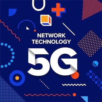 5g network technology memphis design