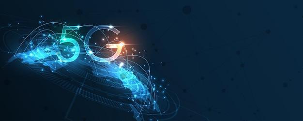 5gネットワークワイヤレスインターネット接続、モノのインターネット、通信ネットワーク、高速、ブロードバンド通信