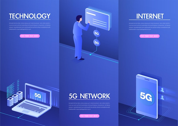 5gネットワークワイヤレスインターネットwifi接続スマートシティ通信ネットワークの概念高速