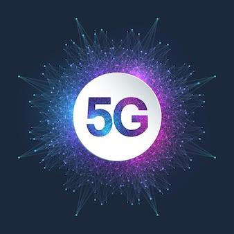 5g 네트워크 무선 시스템 및 인터넷 연결 배경