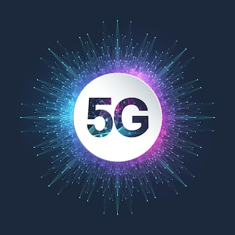 5g network wireless systems and internet illustration