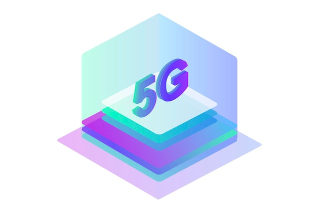 5g network wireless technology mobile internet of next generation web page design template