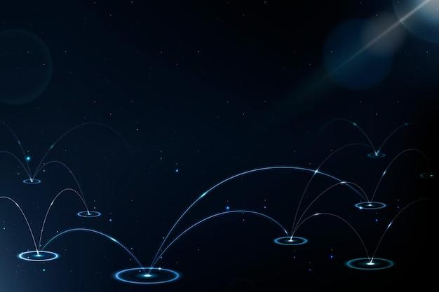 Sfondo della tecnologia di rete 5g con linea digitale blu