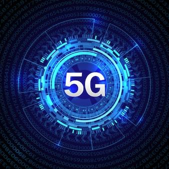 5g new wireless internet connection background.