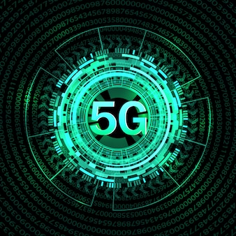 5 gの新しい無線インターネット接続の背景。