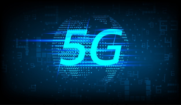 5g new wireless internet connection background