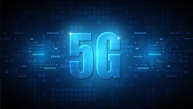 5g скоростная технология фон с высокотехнологичной цифровой системой передачи данных и компьютерной электроникой