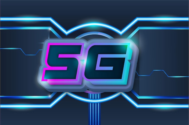 5g speed internet connection vector modern technology background
