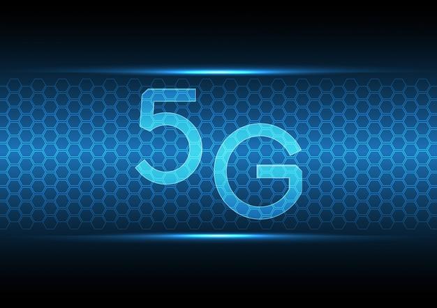 5 gテクノロジー抽象的な六角形の背景