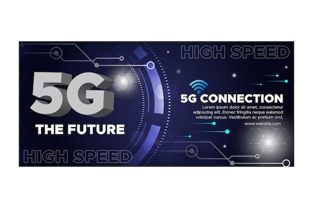 Banner di tecnologia 5g