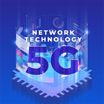 5g technology isometric