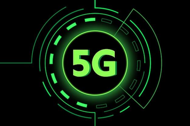 Зеленый 5g новая технология интернет wi-fi