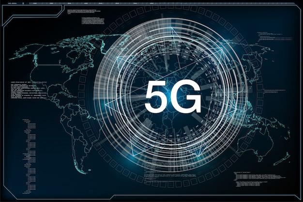 5g新しいワイヤレスインターネットwi-fi接続。グローバルネットワーク高速イノベーション