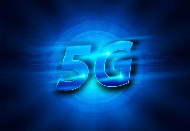 5gの新しい無線インターネットwifi接続。ビッグデータバイナリコードのフロー番号