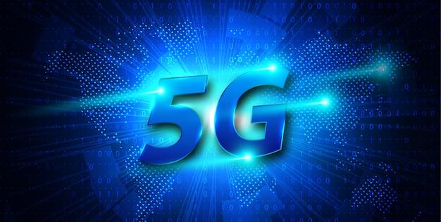 5gの新しいワイヤレスインターネットwifi接続バナー