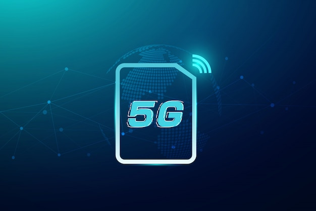 5g wireless internet wifi connection concept. global network high speed innovation data technology, vector illustration