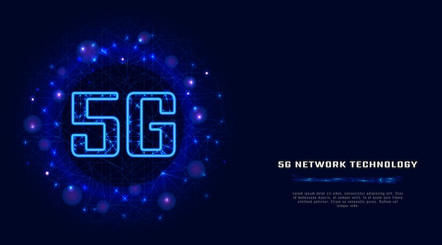 5g wireless internet wifi connection with digital data.