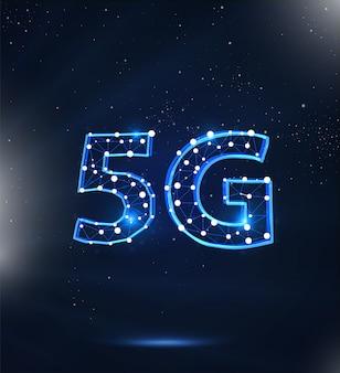 5g wireless technology digital background