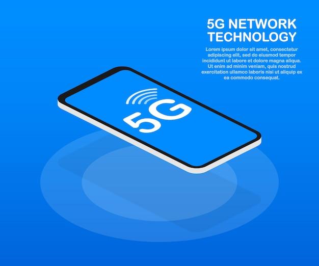 5gネットワークワイヤレスシステムとインターネット。通信ネットワーク。 。