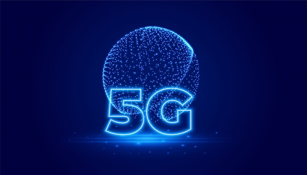 5g通信技術のデジタル背景