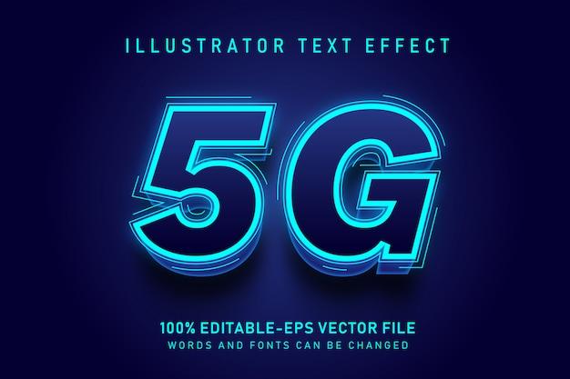 5g текстовый эффект