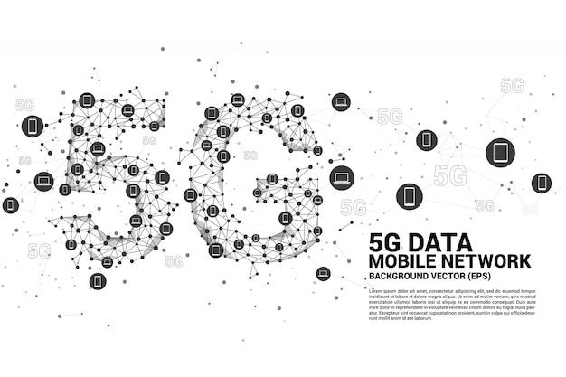 Технология данных 5g от значка устройства