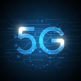 5gテクノロジーの抽象的な回路の背景