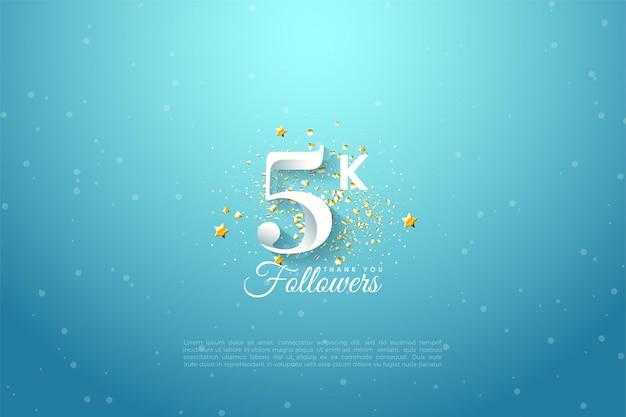 5k последователей с ярким голубым небом.