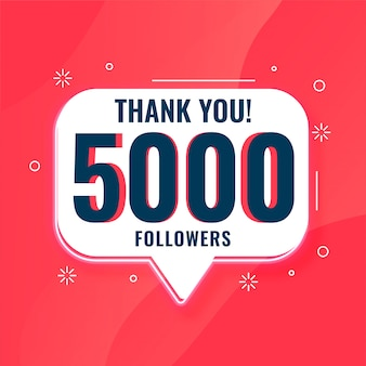 5k social media followers thank you  banner