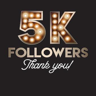 5k последователей спасибо баннер