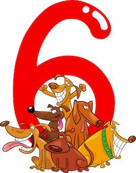 6匹と6匹の犬