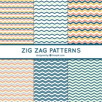 6 zig zag patterns