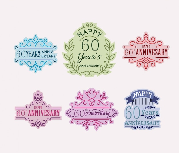 60 anniversary logo collection