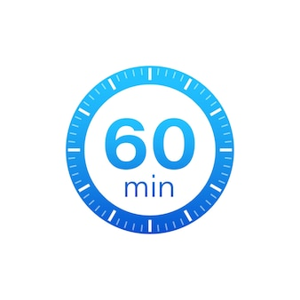 The 60 minutes, stopwatch vector icon