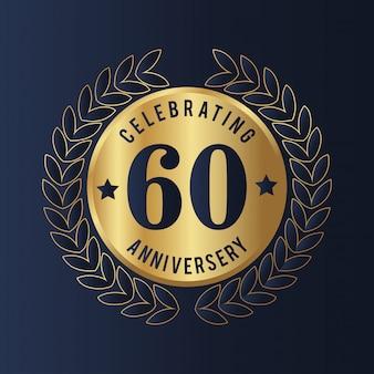 60 year anniversary badge