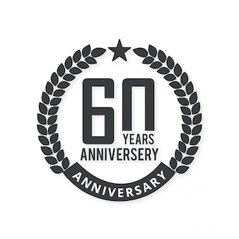 60 year of celebrations badge with light background