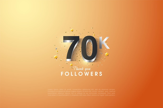 60k последователей с трехмерным тиснением в блестящем серебре.