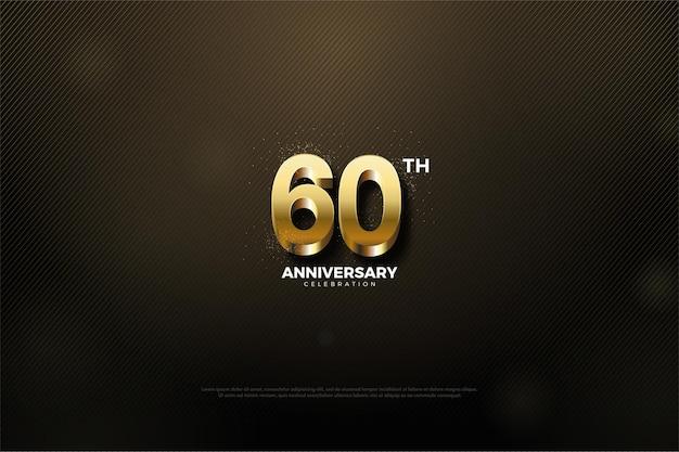 60 주년 기념 분홍색 배경.