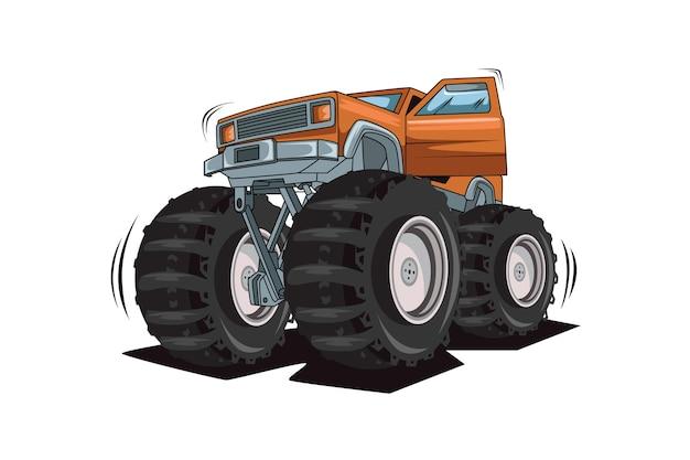 61. monster truck open the door