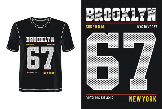 ブルックリン67印刷tシャツのタイポグラフィ