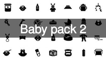 68 Baby icons set