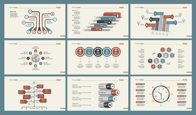 6つの計画スライドテンプレートセット