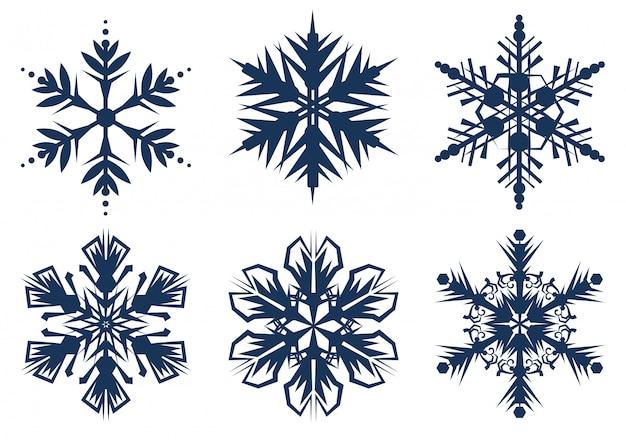 Набор из 6 снежинок
