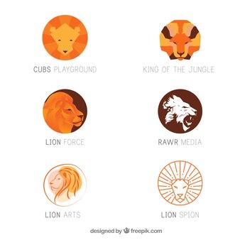 6つのライオンのロゴ
