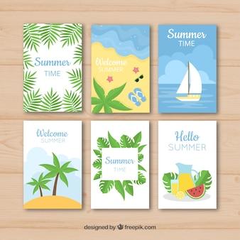 現代の夏のカードパック6枚