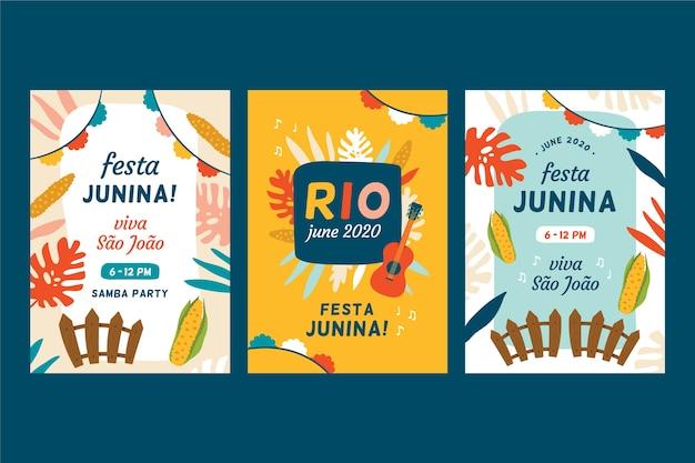 6月祭フラットデザインカード