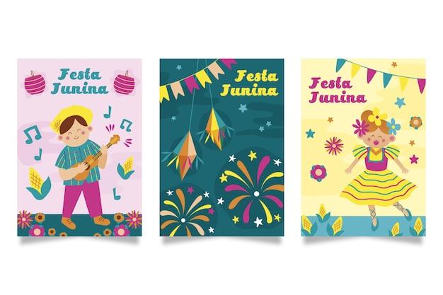 手描きスタイル6月祭カード